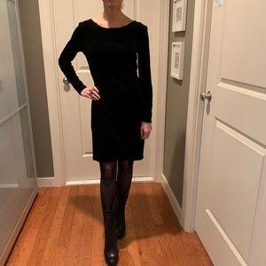 Black Stretch Velvet L/S Sheath Dress Size XS
